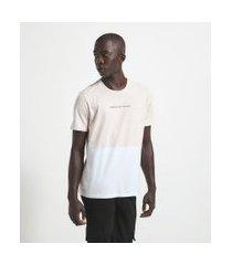 camiseta manga curta em algodão bicolor | request | rosa | p