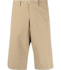 etro stretch-cotton bermuda shorts - neutrals