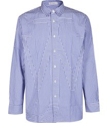 j.w. anderson blue and white cotton shirt