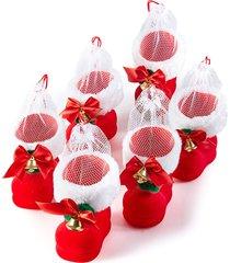 stivaletti natalizi (set 6 pezzi) (rosso) - bpc living bonprix collection