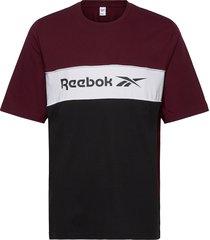 cl f linear tee t-shirts short-sleeved röd reebok classics