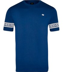 river island mens big & tall blue greek river block t-shirt