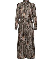 3389 - lotte bc dress knälång klänning grön sand