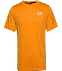 m glacier s/s tee t-shirts short-sleeved orange the north face