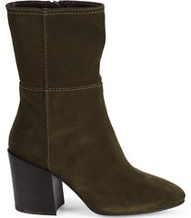 fabriana suede stitched booties