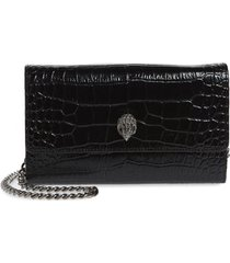 women's kurt geiger london kensington leather wallet on a chain - black