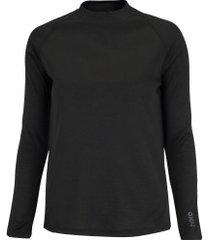 camisa segunda pele manga longa nord outdoor under basic - feminina - preto