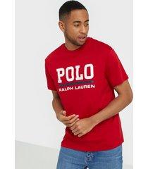 polo ralph lauren short sleeve t-shirt t-shirts & linnen red