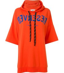 izzue reserved slogan hoodie - orange