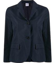 aspesi 3/4 sleeves cotton blazer - blue