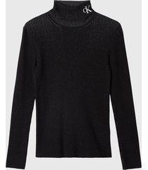 sweater calvin klein jeans negro - calce slim fit