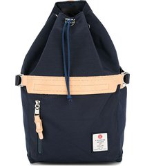 as2ov drawstring backpack - blue