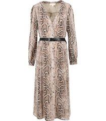 midi dress with python print