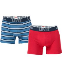 mens basic stripe 2 pack boxer shorts