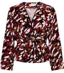 kalhu kesäheinä shirt blouse lange mouwen multi/patroon marimekko