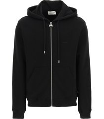 lanvin sweatshirt with hoodie and embroidered logo