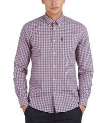 barbour men's poplin gingham shirt