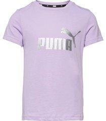 ess+ logo tee g t-shirts short-sleeved lila puma