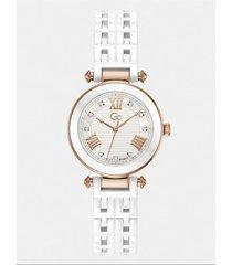analogowy zegarek gc z kryształkami