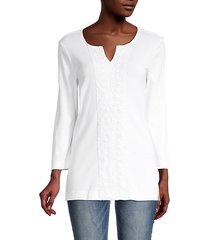 cora lace-trimmed tunic top