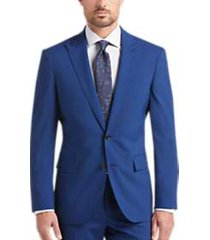 joe joseph abboud bright blue slim fit suit