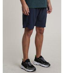 bermuda masculina básica esportiva ace com bolsos azul marinho