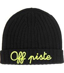 cashmere blend embroidered hat off piste