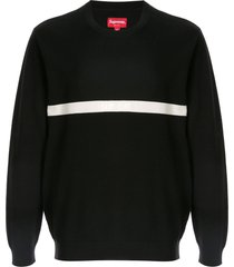 supreme split pique sweater - black