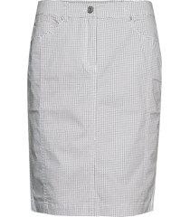 casual skirt knälång kjol vit brandtex