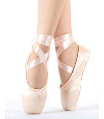 il merletto dentellare merletta le scarpe da ballo di balletto strappy per le donne