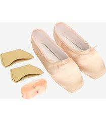 rosa scarpe da ballo basse con lacci con lacci per donne
