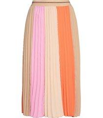 plisse block skirt knälång kjol multi/mönstrad mos mosh
