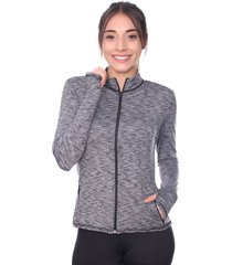 chaqueta deportiva mujer gris