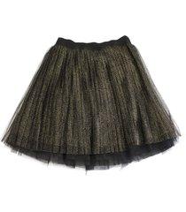 alberta ferretti short net skirt
