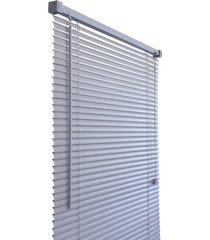 persiana de pvc primafer, 1,00 x 1,60 metros, cinza