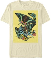 fifth sun men's papillons squared short sleeve crew t-shirt