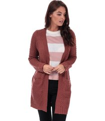 vero moda womens esme surf open cardigan size 14 in brown