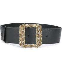 etro oversized square buckle belt - black