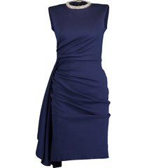 jersey side ruched dress