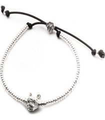 yorkshire terrier head bracelet in sterling silver