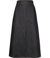 veronica beard high-waist skirt - blue