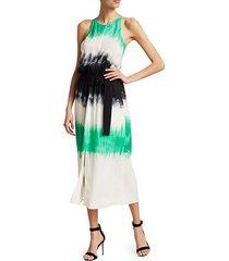 tallulah tie-dye silk maxi dress