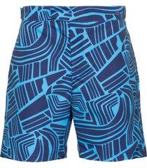frescobol carioca tidal print swim shorts - blue