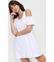 vestido blanco destino collection volados