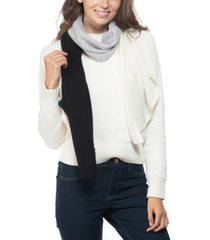 charter club cashmere colorblocked muffler scarf, created for macy's