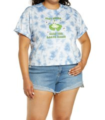 plus size women's bp. earth day organic cotton graphic tee, size 2x - blue