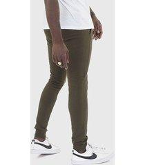 pantalón jogger brave soul verde - calce ajustado