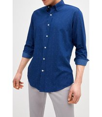camisa embroidered denim shirt trial