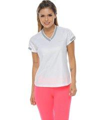 camiseta básica, color blanco para mujer