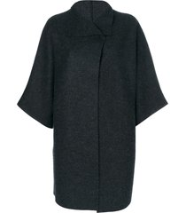 harris wharf london oversized cape jacket - grey